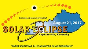 Logo for the solar eclipse for Hopkinsville, Kentucky.