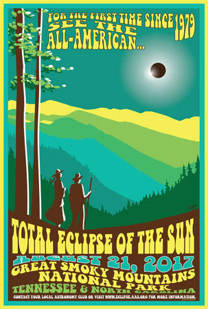 Poster by Tyler Nordgren of the total eclipse