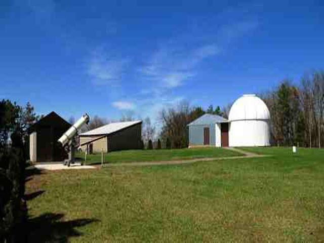 Side view of Edward Naylor Observatory