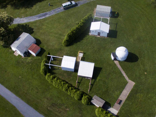 Aerial view of the Edward Naylor Observatory