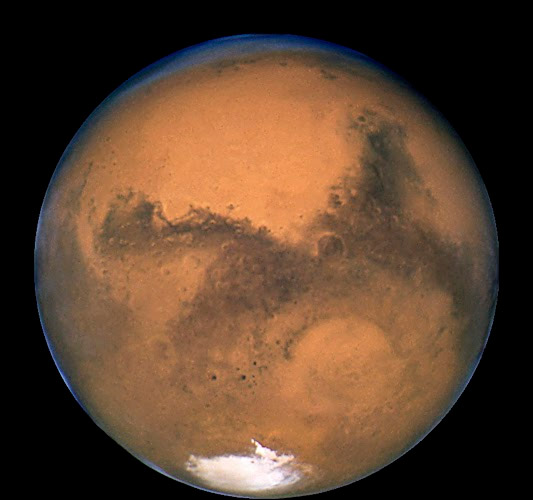 Mars imaged by the Hubble Space Telescope