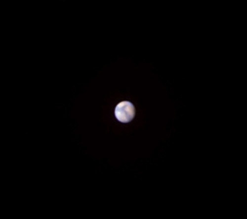 Mars as it might appear in a small telescope