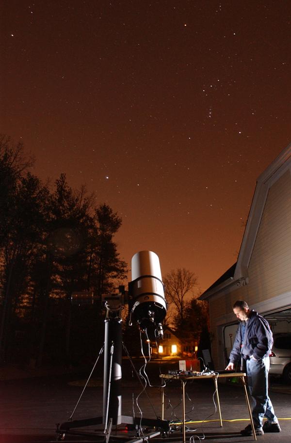 Gendler at his home observatory