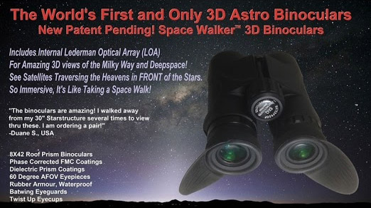 SpaceWalker 8x42 binoculars incorporate the Lederman Optical Array technology